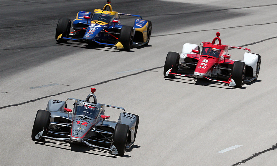 Will Power, Marcus Ericsson, and Alexander Rossi