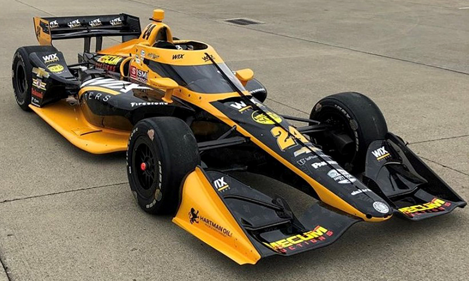 Dreyer & Reinbold Racing will field the No. 24 WIX Filters Chevrolet for Sage Karam at the GMR Grand Prix