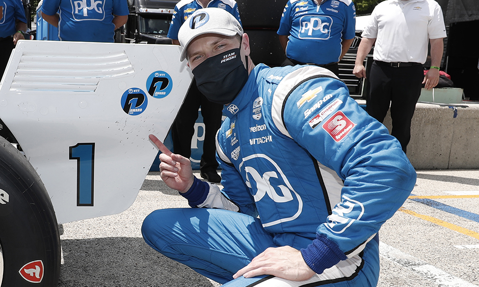 Newgarden wins NTT P1 Award at Road America