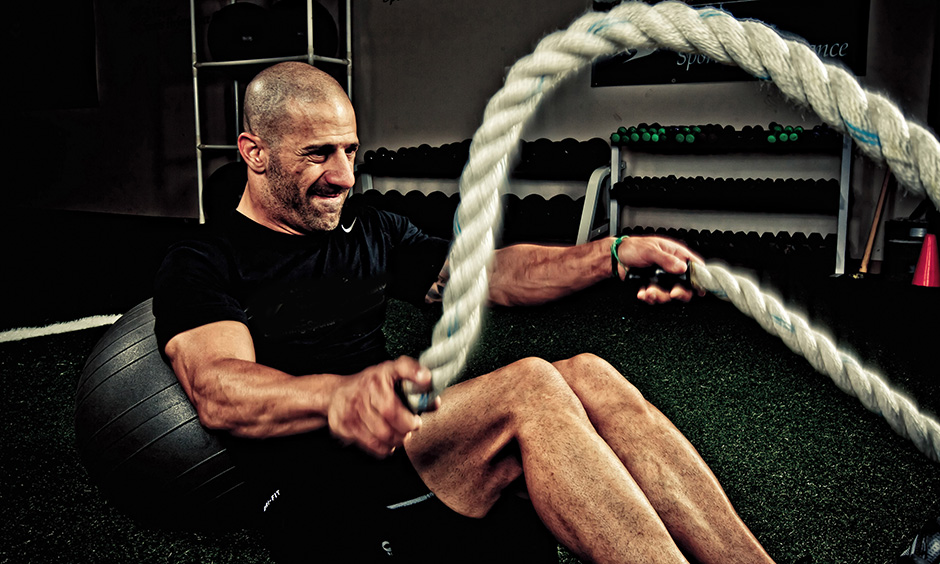 Tony Kanaan working out