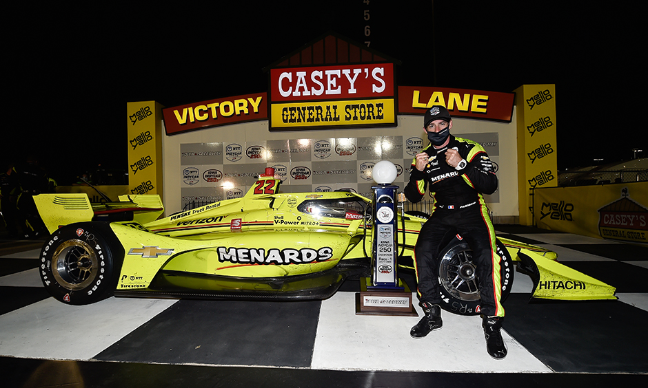 Simon Pagenaud in Victory Lane