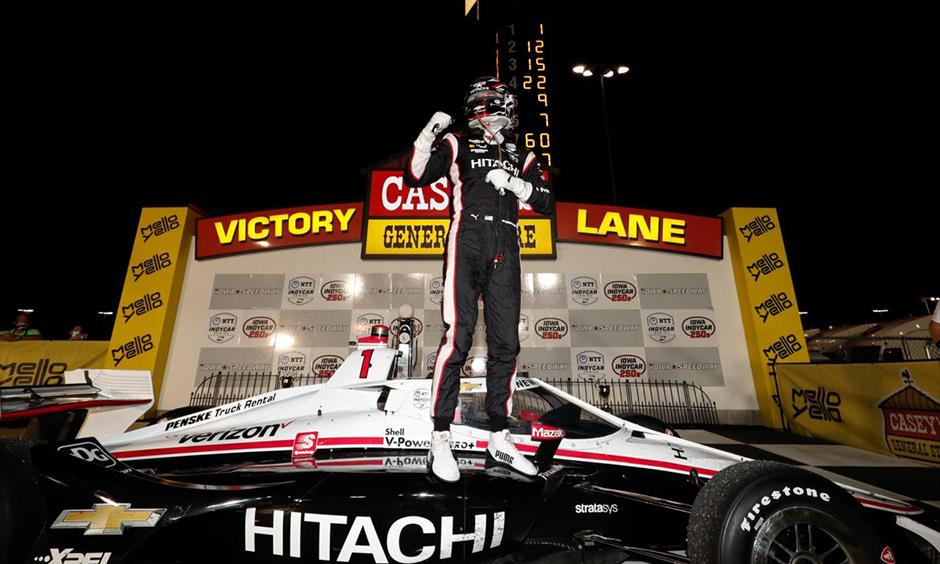 Josef Newgarden in victory lane