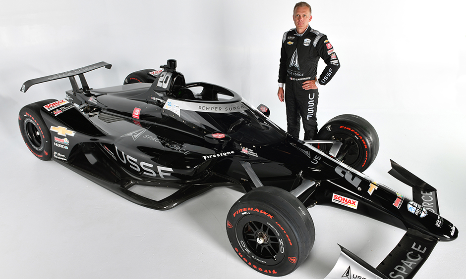 United States Space Force car with Ed Carpenter
