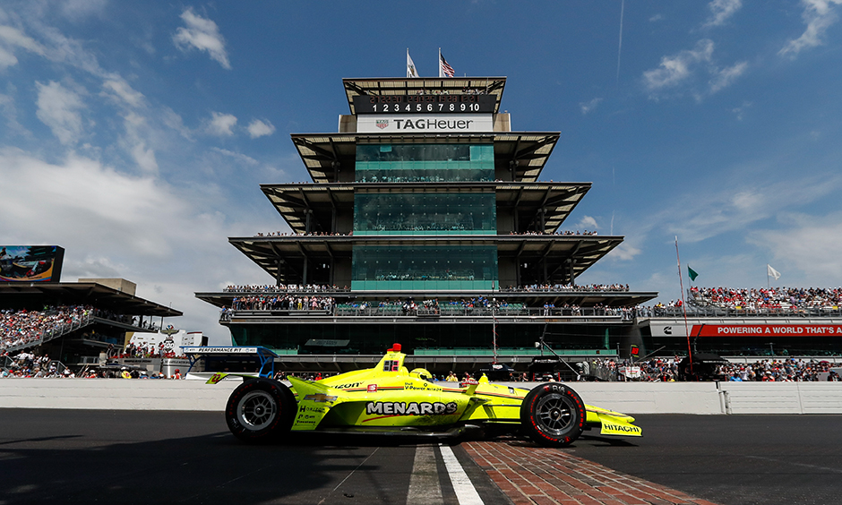 Simon Pagenaud at Indianapolis Motor Speedway in 2019