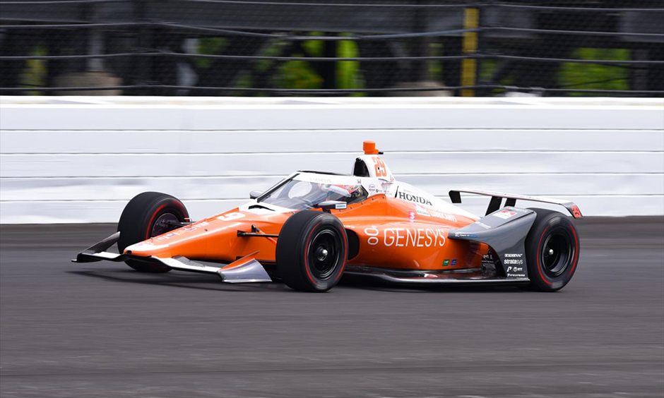 James Hinchcliffe on track at Indianapolis