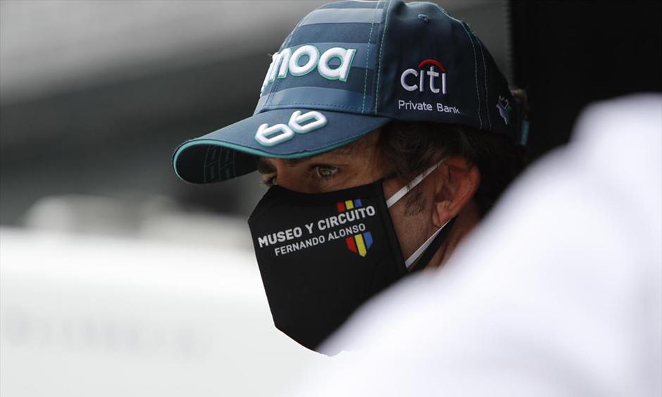 Fernando Alonso on pit road