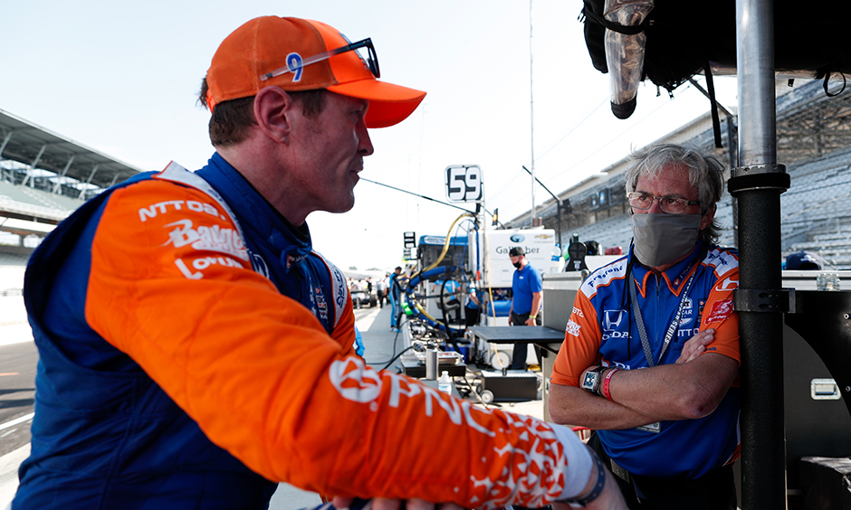 Scott Dixon and his engineer Michael Cannon