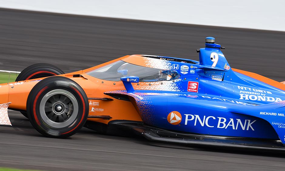 Scott Dixon on track at Indianapolis