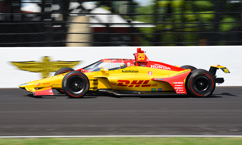 Ryan Hunter-Reay on track at Indianapolis