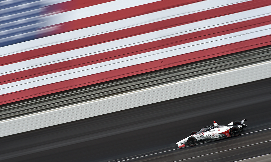 Marco Andretti during his qualifying run.