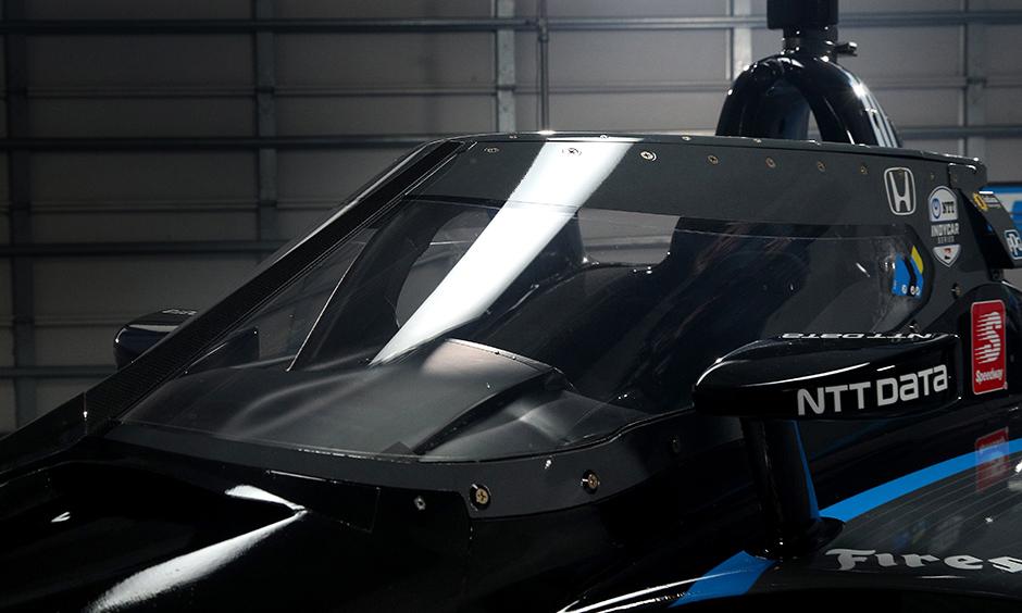 The Aeroscreen on the 2020 NTT INDYCAR SERIES car