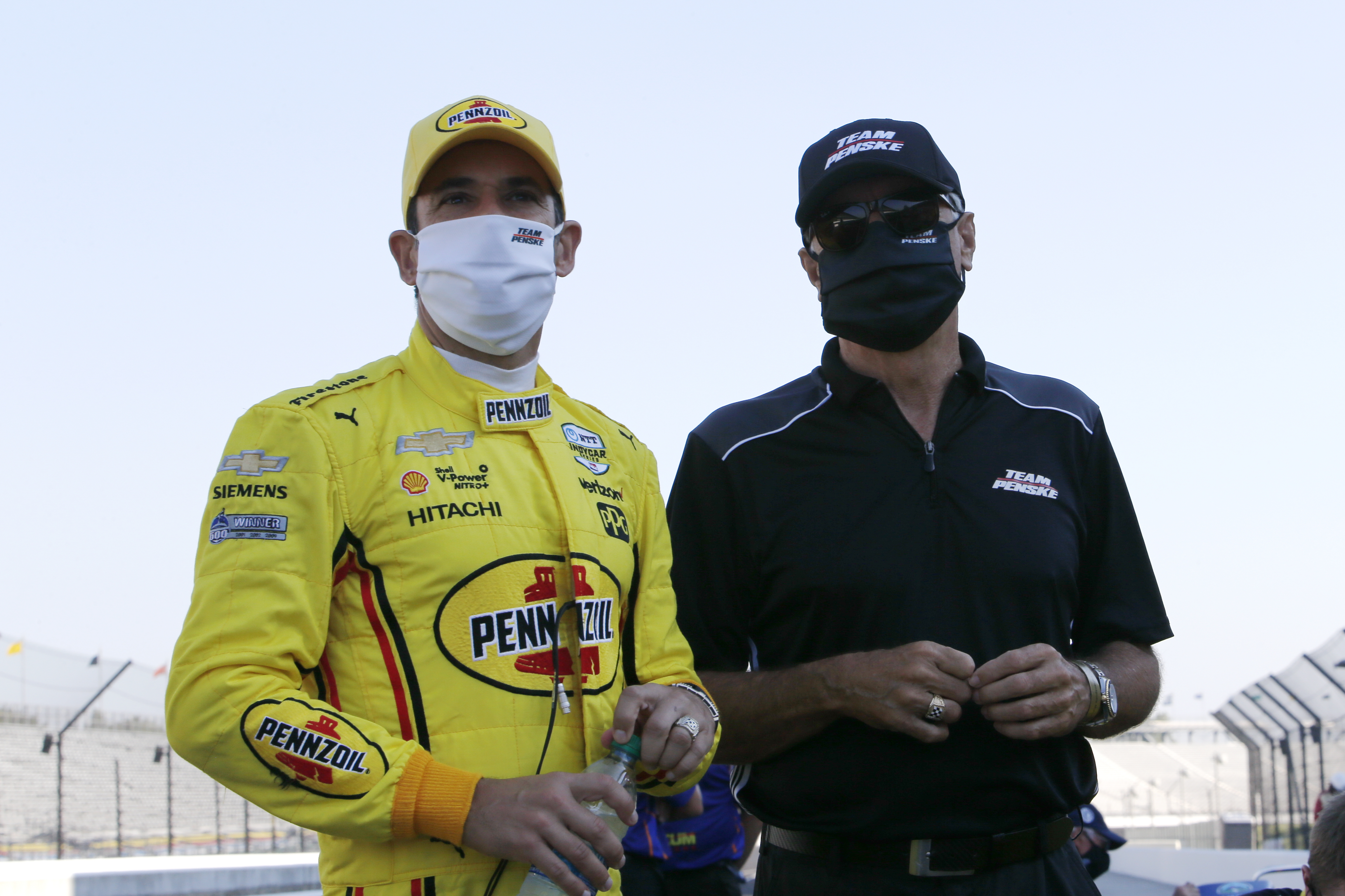 Helio Castroneves and Rick Mears