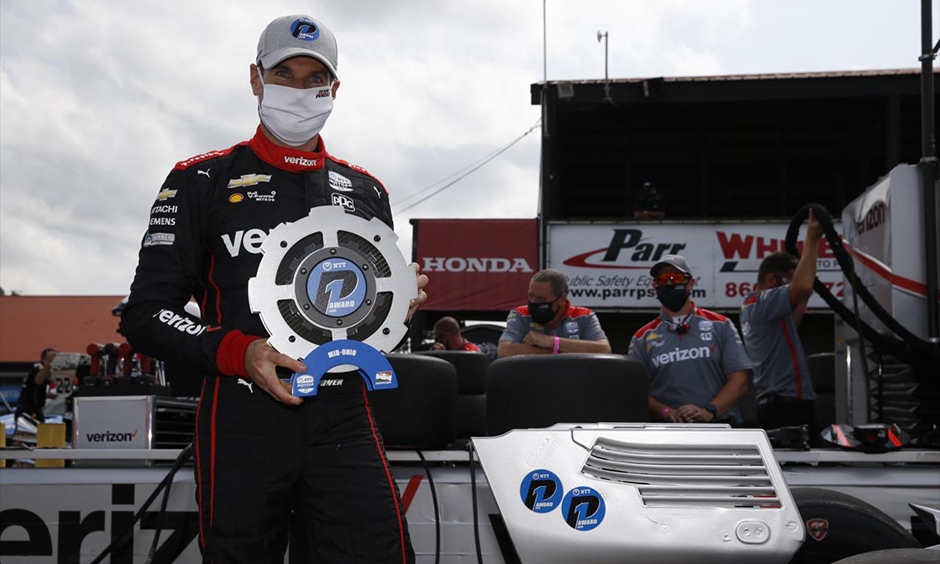 Will Power with the NTT P1 Award