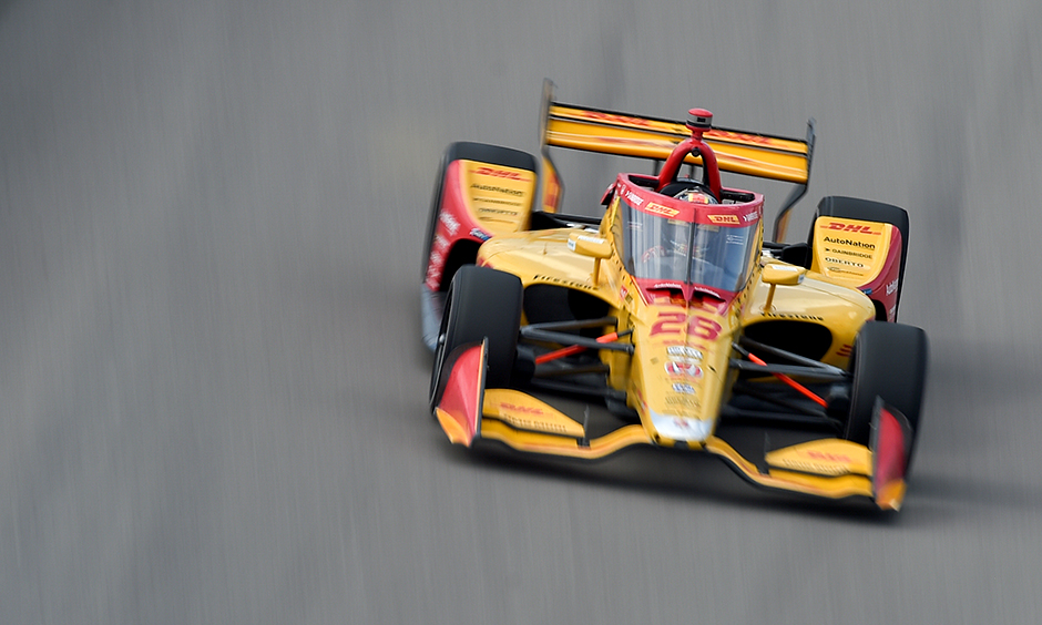 Ryan Hunter-Reay on course