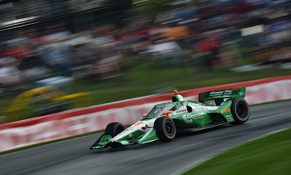 Colton Herta on course at Mid-Ohio