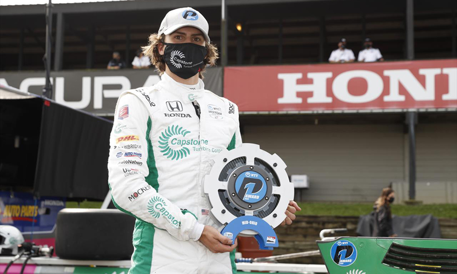 Colton Herta with NTT P1 Award