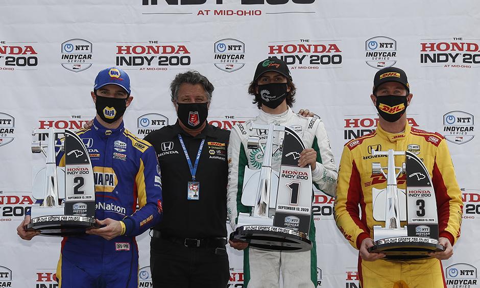 Andretti Autosport on the Mid-Ohio podium