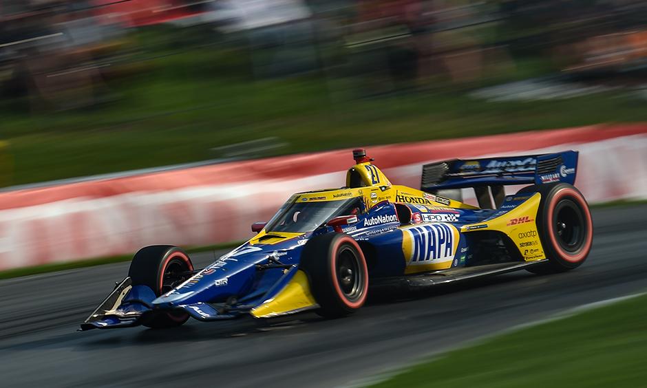Alexander Rossi on track at Mid-Ohio
