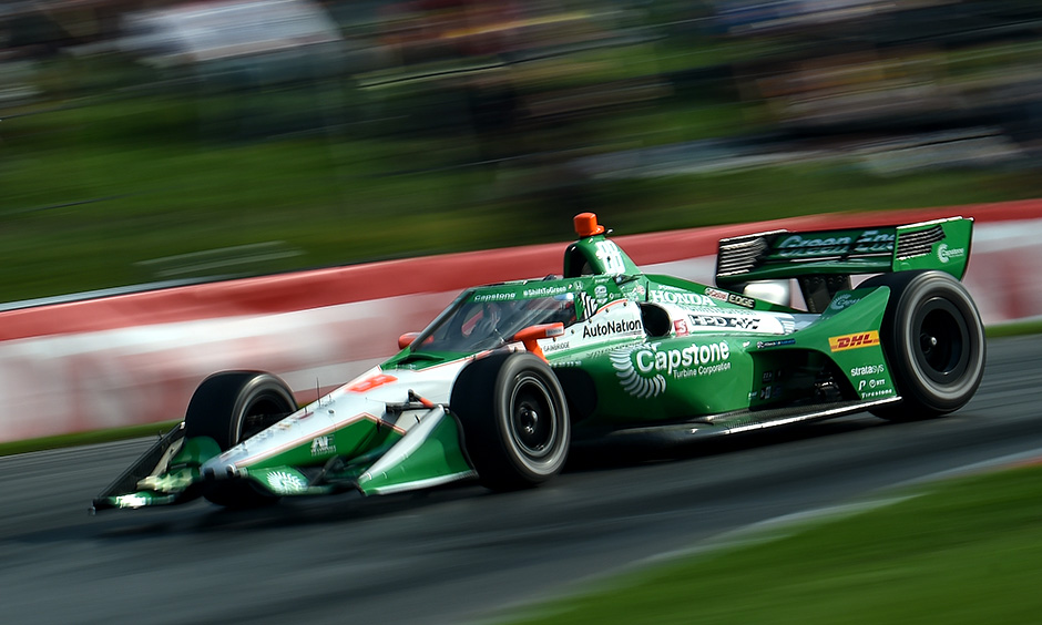 Colton Herta on track at Mid-Ohio