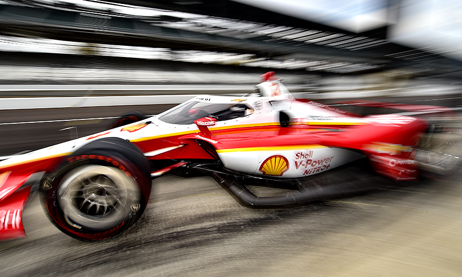 Scott McLaughlin during an October test at Indianapolis