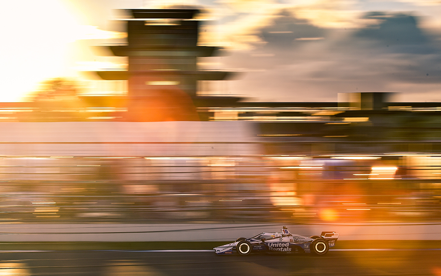 Best Photo of 2020, Graham Rahal at IMS at sunset