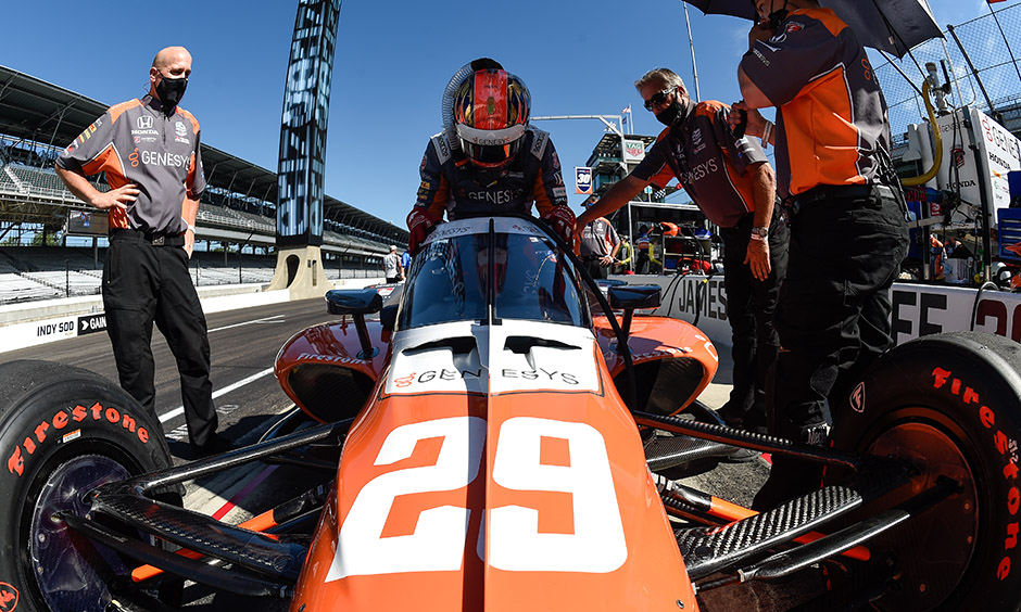 James HInchcliffe getting in his car