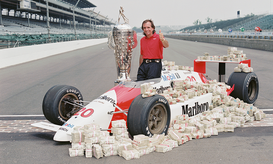 Emerson Fittipaldi after the 1989 Indy 500.