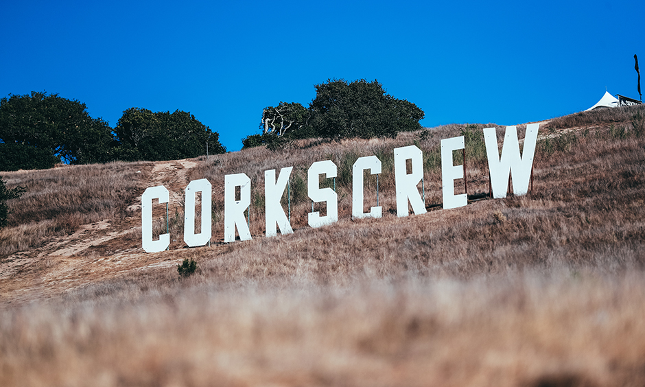 Corkscrew sign at WearherTech Raceway Laguna Seca