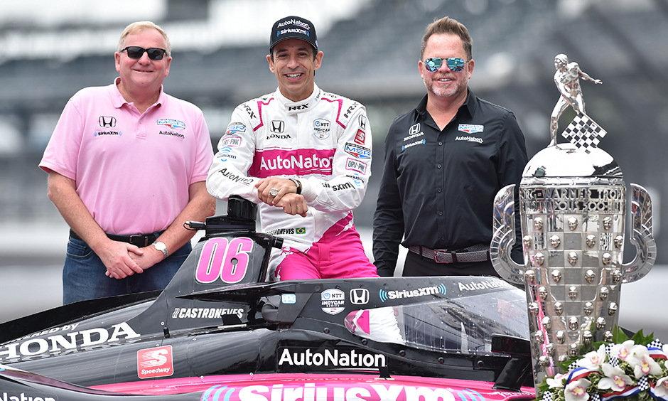 Jim Meyer Helio Castroneves Mike Shank