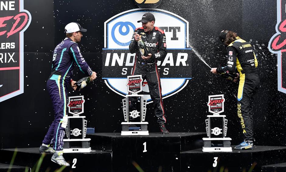 Big Machine Spiked Coolers Grand Prix podium