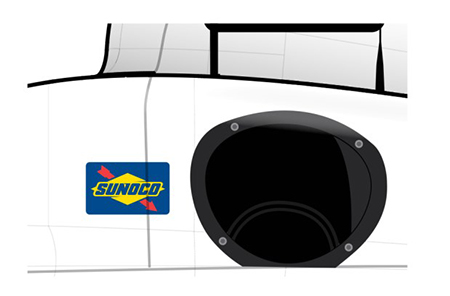 Sunoco Logo Placement