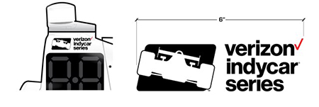Verizon IndyCar Series Logo Placement