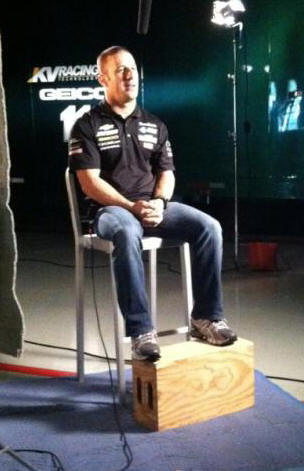 "Tony Kanaan interviewed for ""INDYCAR 36."""