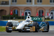 Ed Carpenter on track at Sebring