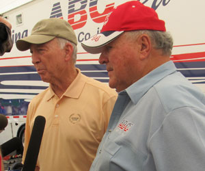 Bart Starr and A.J. Foyt at Barber Motorsports Park