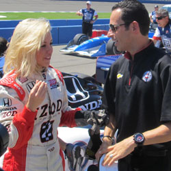Helio Castroneves with Chelsie Hightower