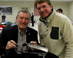 Johnny Rutherford signing autographs at IMS Museum