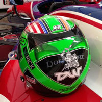 Conor Daly's helmet for first test in DW12