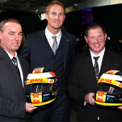 RHR gives helmets to crew members