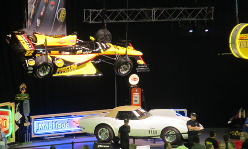 Mecum Auctions with DW12 Car overhead