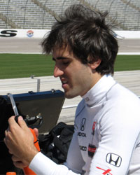 Vautier at Texas Test