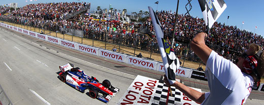 Takuma Sato takes checkered flags at Long Beach