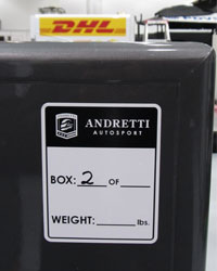 Andretti Autosport packing for Brazil