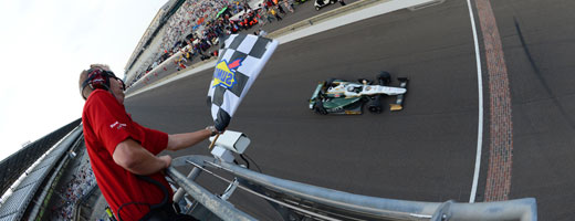 Ed Carpenter takes the checkers for qualifying