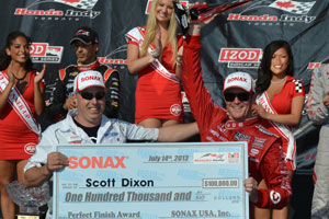 SONAX Perfect Finish Award to Scott Dixon