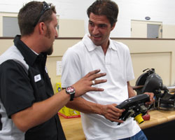 Lucas Luhr visits Sarah Fisher Hartman Racing