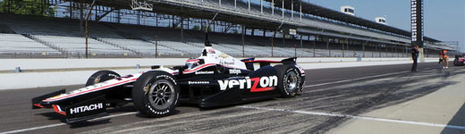 Will Power leaves IMS Pit Lane