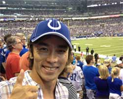 Takuma Sato at Indianapolis Colts game