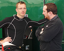 Sebastien Bourdais & engineer