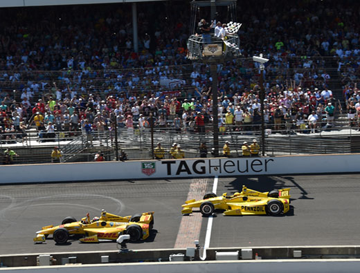 Ryan Hunter-Reay and Helio Castroneves